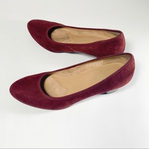 Naturalizer Red Suede Heels